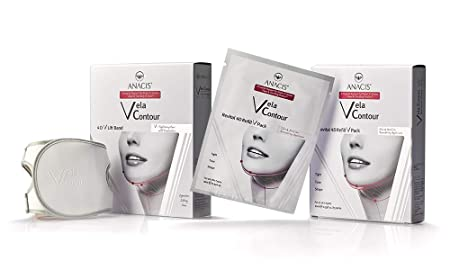 Double Chin Reducer Neck Firming Face Shaping. Vela Contour- Contouring Face Belt 5 Masks