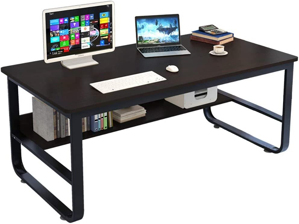 Computer Desk Durable Home Office Desk Sturdy Industrial Style Modern Laptop Table Easy to Assemble for Working Studying Gaming