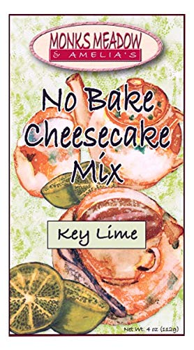 Monks Meadow Key Lime Cheesecake - No Bake Mix in 5 oz box with easy to