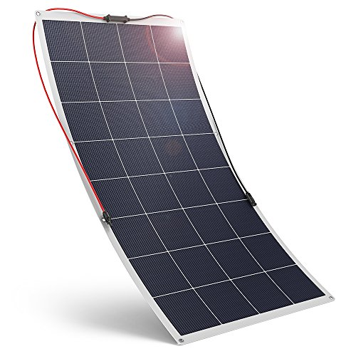 Flexible Solar Panel 120W 18V RAVPower Solar Charger Polycrystalline High Efficiency Bendable Design for Boat, Trailer, Tent Other Off Grid Applications