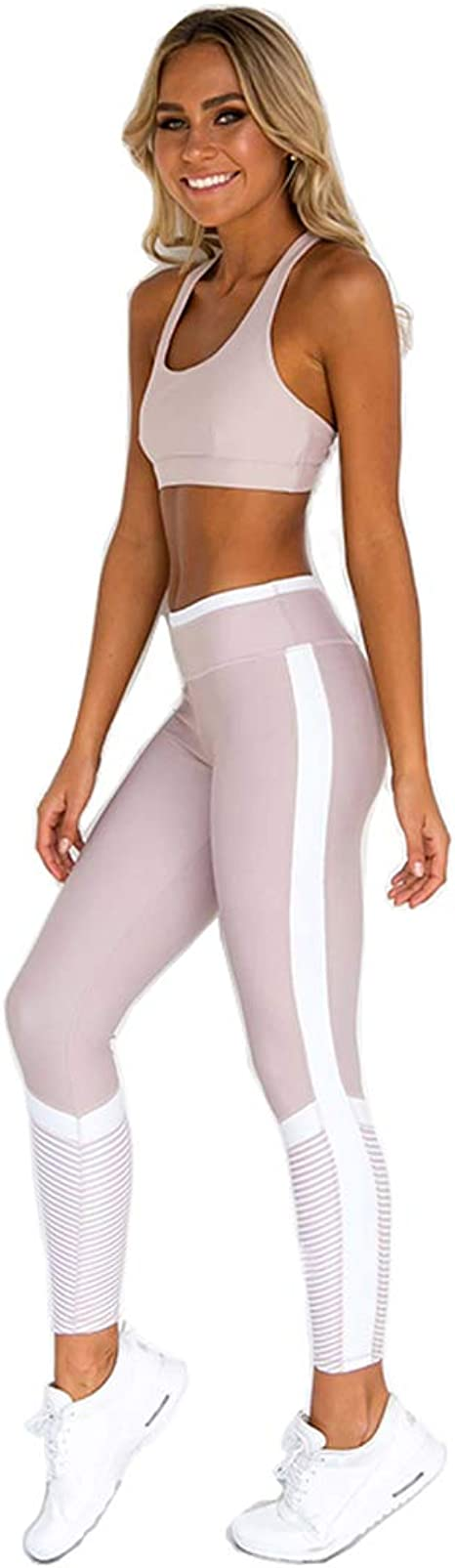 Hanwe Womens Bra Yoga Pants Workout Running Bras Gym Yoga Leggings High Waist Butt Lifting Pant by Hanwe