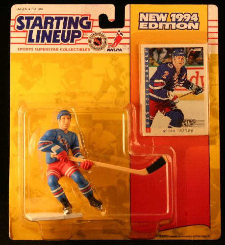 BRIAN LEETCH / NEW YORK RANGERS 1994 NHL Starting Lineup Action Figure & Exclusive NHL Collector Trading - Kenner Mall