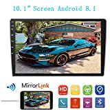 "Car Stereo Double Din MP5 Android 8.1 System Player, 10.1"" 2.5D Curved HD"