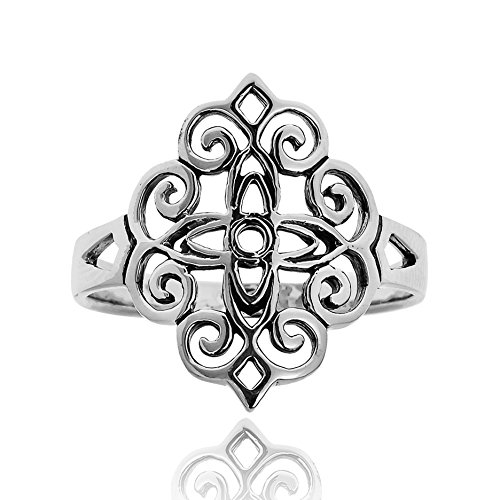 Vintage Beauty Floral Filigree Lace .925 - Mens Sterling Silver Swirl Shopping Results