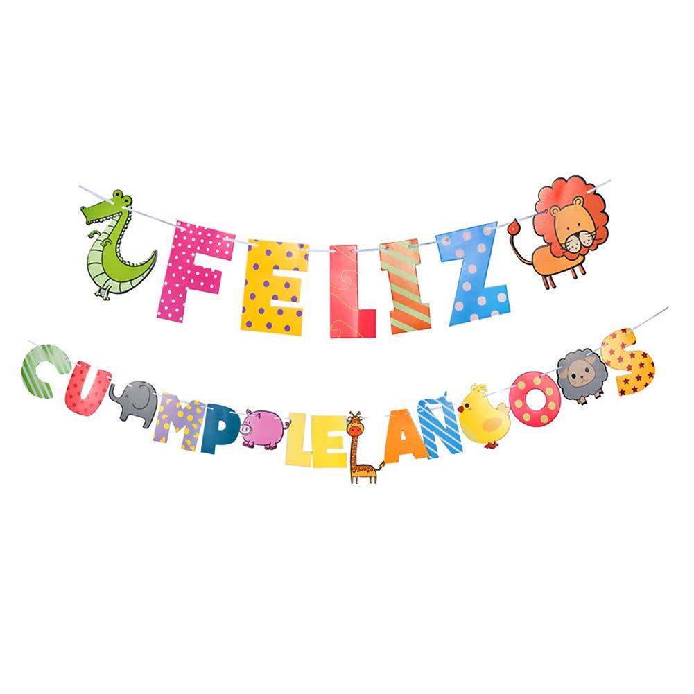 Amazon.com: Unicoco Feliz Cumpleanos Birthday Banner Fiesta ...