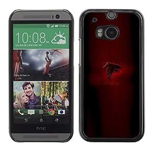 Falcons - Metal de aluminio y de plástico duro Caja del teléfono - Negro - HTC One M8
