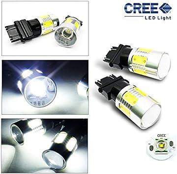 2 X 8W 4 PLASMA+CREE 3157 T25 WHITE LED TURN//TAIL//BRAKE//STOP//SIGNAL LIGHT BULB