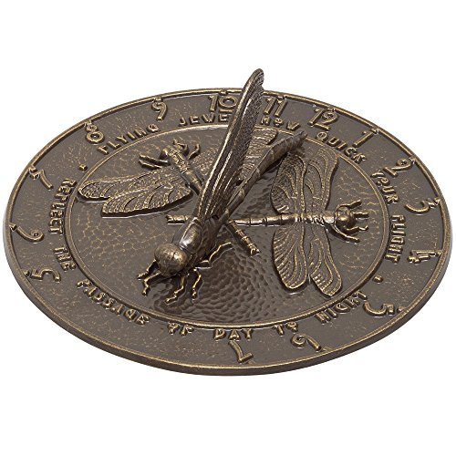 Whitehall Products Dragonfly Sundial, Oil Rub Bronze