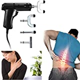 Electric Spine Chiropractic Therapy Impulse Activator Massage Tool with Case by Coerni (Black)