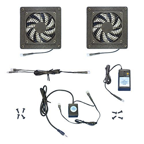 2-Zone 12-Volt Trigger-Controlled AV cabinet cooling Fans (12v), for Home Theater Cabinets