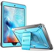 SUPCASE [Unicorn Beetle Pro Series] Case Designed for iPad 9.7 2018 / 2017, with Built-In Screen Protector & Dual Layer Full Body Rugged Protective Case for iPad 9.7 5th / 6th Generation (Blue)
