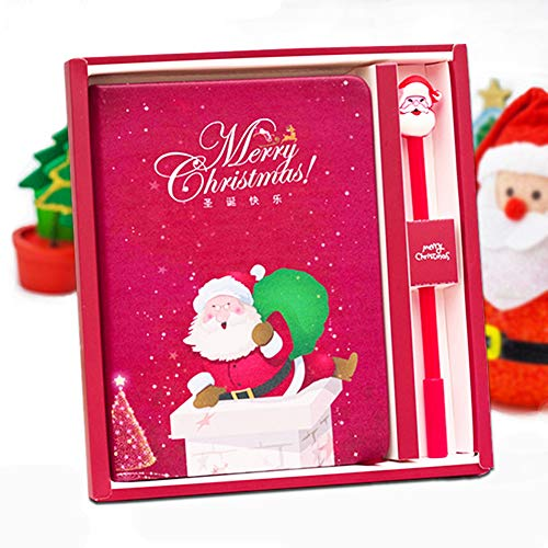 Christmas Notebook Gel Pens Set - Lovely Birthday Christmas Gift for Girls, Cute Journal Stationery Diary Present for Daughter of All Ages: 3 4 5 6 7 8 9 ()