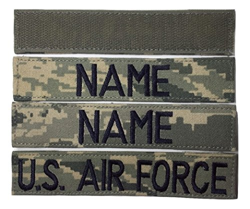 3 pieces ABU Name Tape & US Air Force USAF Tape with Fastener, 1