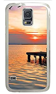 Samsung Galaxy S5 Case,Samsung Galaxy S5 Cases - Sunset Over Water Custom Design Samsung Galaxy S5 Case Cover - Polycarbonate¨CTransparent