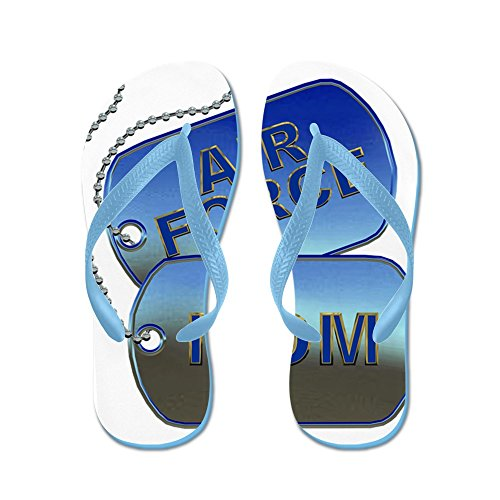 Cafepress Air Force Mom Dog Tags - Flip Flops, Grappige String Sandalen, Strand Sandalen Caribbean Blue