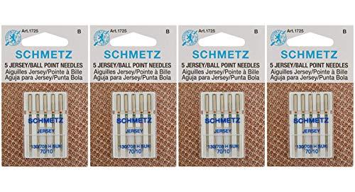 Amazon.com: Ball Point Jersey máquina needles-size 10/70 5 ...