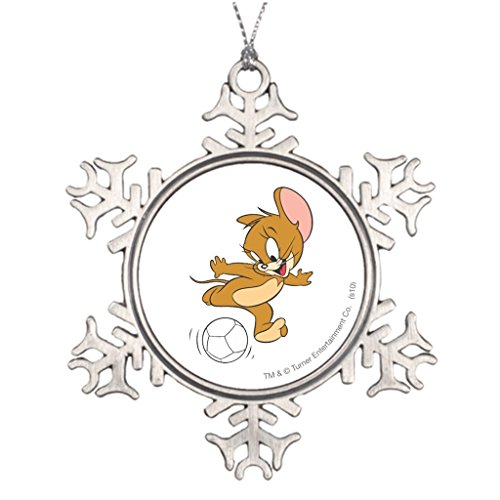 Grayby Best Friend Snowflake Ornaments Tom Jerry Blank One size (Tom And Jerry Centerpiece)