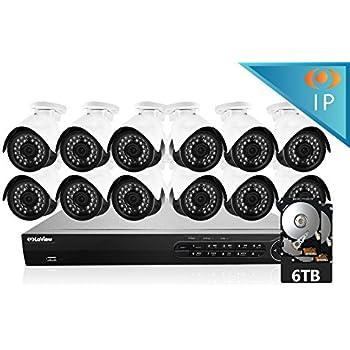 Amazon Com Laview 12 1080p Ip Camera Security System 16