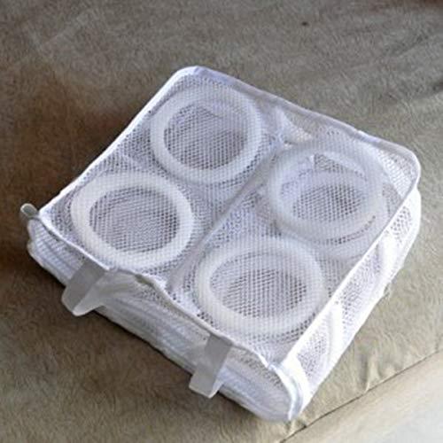 Colgante de la zapatilla de deporte seca Malla Bolsas de lavandería Zapatos Proteger Lavar la bolsa Organizador de almacenamiento en el hogar para ...