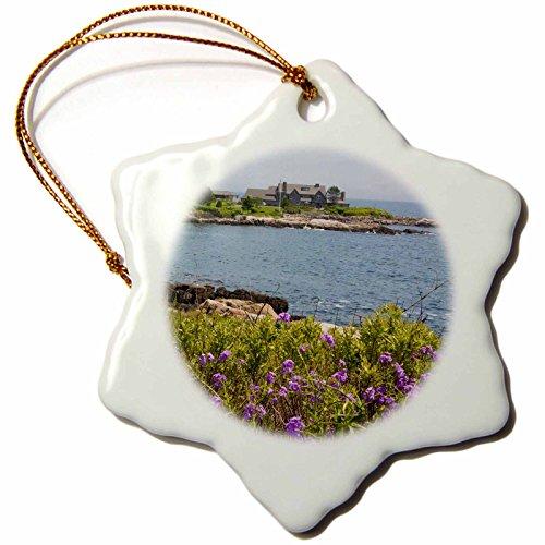 Bush Ornament (3dRose orn_90541_1 Home of President Bush, Kennebunkport Maine US20 BBA0052 Bill Bachmann Snowflake Porcelain Ornament, 3-Inch)