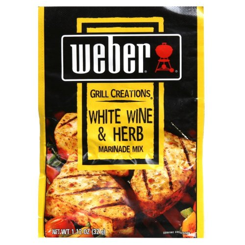 Weber Grill Marinade White Wine & Herb, 1.12-Ounce (Pack of 12)