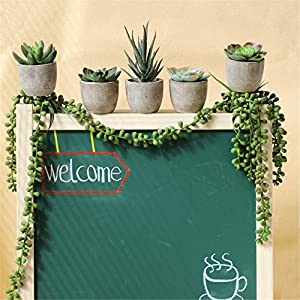 BYEEE CLEARANCE! Artificial Potted Plants Artificial Succulent Plants Mini Fake Cacti Plants Unique Fake Fresh Green Grass Flower In Gray Pot For Home Décor 2