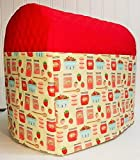 Quilted Strawberries & Jam Kitchenaid Tilt Head Stand Mixer Cover (Red)