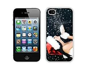 Personalize offerings Iphone 4S Protective Skin Case Merry Christmas White iPhone 4 4S Case 32
