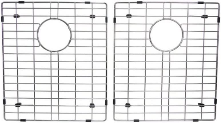 Starstar 50 50 Double Bowl Kitchen Sink Bottom Two Grids, Stainless Steel, 16 x 14