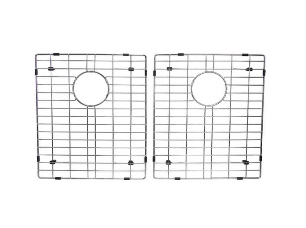 Starstar 50/50 Double Bowl Kitchen Sink Bottom Two Grids, Stainless Steel, 15'' x 13''