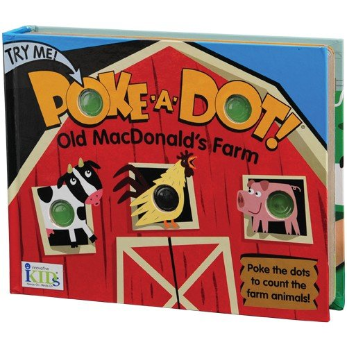 Constructive Playthings INN-41 Old Macdonald's Farm Poke-A-Dot Counting The Animals Board Book, Grade: Kindergarten to 3