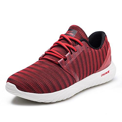 Rosso Corsa Sneakers Scarpe Ginnastica Da Uomo Casual Onemix Fitness Running Sportive IwvCqOn