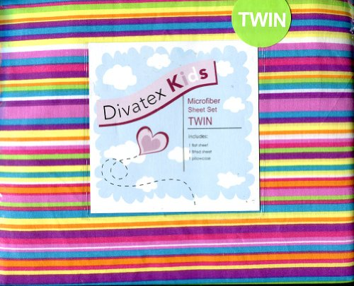 UPC 806222384580, Divatex Kids Rainbow Stripe Twin sheet set