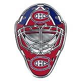 montreal canadiens auto decal - Montreal Canadiens Goalie Mask Colored Aluminum Car Auto Emblem