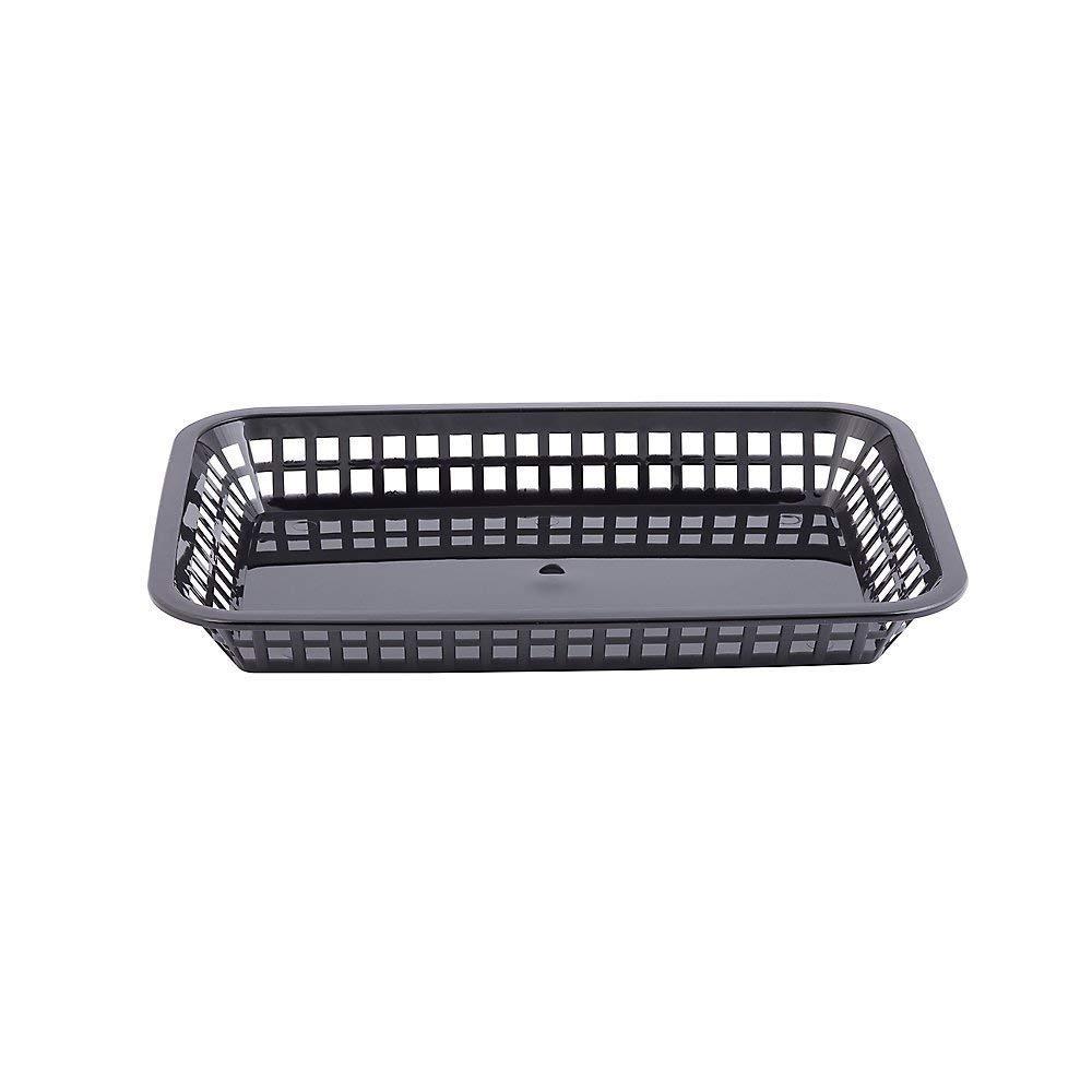 TableCraft 1079BK 11-3/4'' Black Mas Grande Platter Basket - Pack of 24 (24)