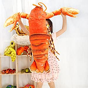 """Creative Large 21"""" Artifical Lobster Soft Plush Pillow Cushion Doll Kids Toy"""