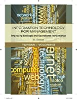 Information Technology for Management: Improving Strategic and Operational Performance, 8th Edition Front Cover
