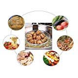 Tenta Kitchen Stainless Steel Wire Strainer, Bamboo Handle