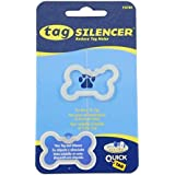Whimsical Practicality Quicktag Dog Tag Silencer, Large Bone