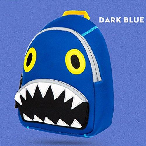 JIANGFU Cartoon Big Shark Schulter Tier Tauchen Material wasserdicht [Rucksack] Kinder [Schultasche], Kind Rucksack Kleinkind Kind Schultaschen Kindergarten Cartoon Schulter Buch Taschen (Orange) Blue