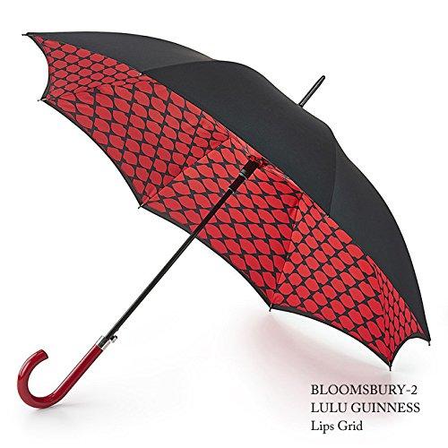 フルトン x ルルギネス 傘 Lulu Guinness x FULTON コラボ リップスグリッド 長傘 fultonl723lipsgrid B01M0EIKQL