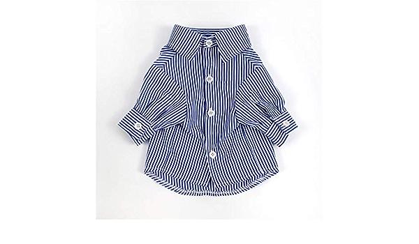 GHFJG - Camisa de verano con rayas rojas y azules para perros ...