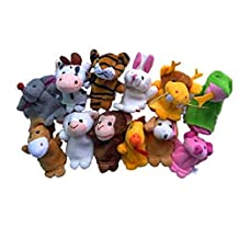Child Baby Toys,12PCs Plush Animal Finger Puppet Early Education Toys Gift➪Laimeng