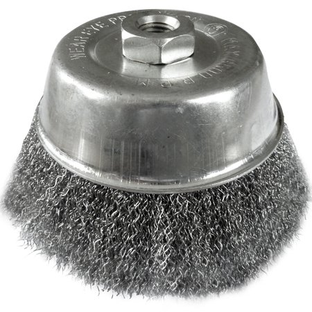 125mm x M14 Crimped Cup Wire Brush. Use on 180mm & 230mm Grinders