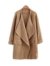ARJOSA Women's Casual Open Front Cardigan Jacket Trench Coat Outerwear