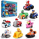 Ardorlove Paw Patrol, Gift Pack of 6-9 Collectible Vehicles Mighty Pups Super Paws Chase's Powered Up Transforming…
