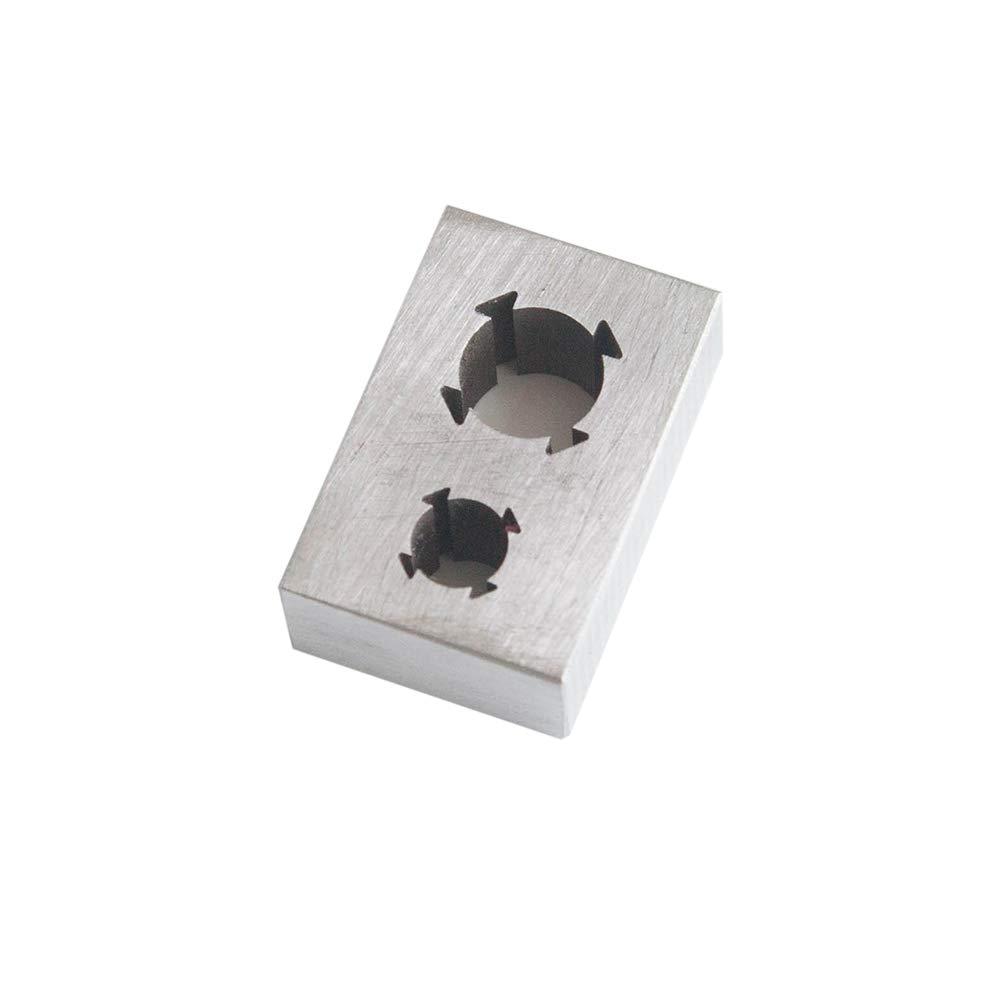 English System 2 Holes Creker High Speed Steel Dowel Plate Dowel Cutting