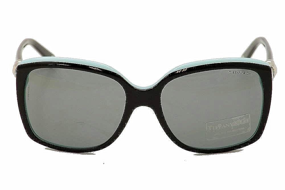 3ad07253eb17 Amazon.com  Tiffany 4076 80553F Black TF4076 Square Sunglasses Lens  Category 2 Size 58mm  Tiffany  Clothing