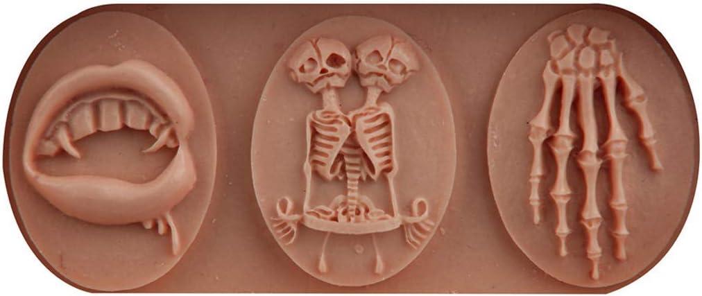 per gioielli 4 Viesky Stampo in resina 3D con teschio in resina UV