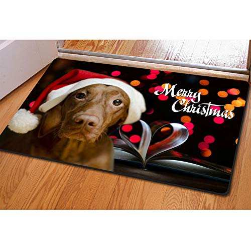 UNICEU Animal Vizsla Door Mat Floor Living Room Kitchen Bathroom Christmas Ornament Holiday ()